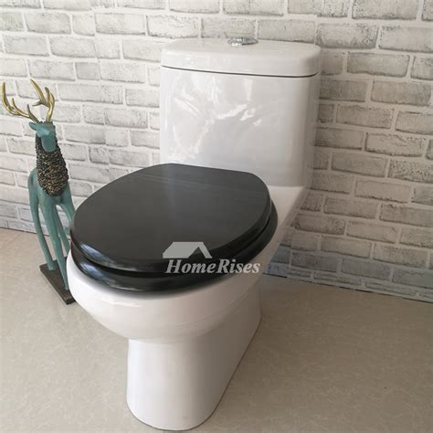 slow close black toilet seat wooden silent stainless steel