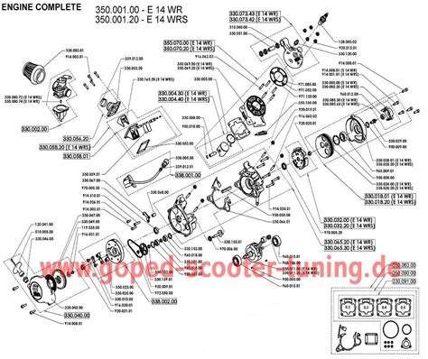 V6 Engine Diagram With Name by Engine Parts Goped Scooter Tuning
