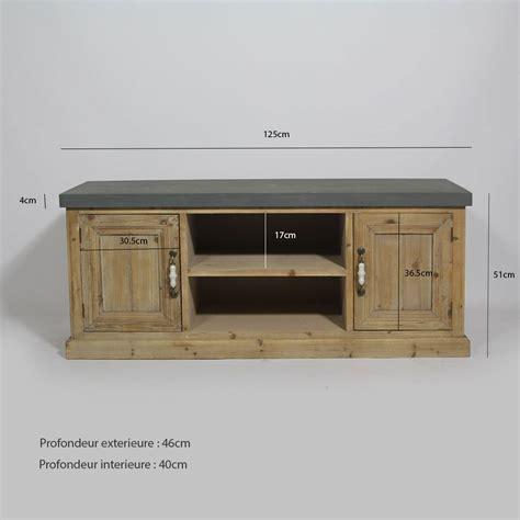 ilot cuisine palette meuble télé style ancien bois naturel made in meubles