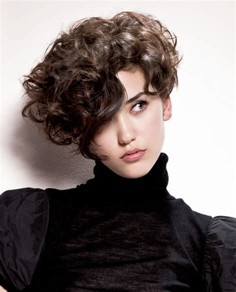 asymmetrical short curly hair styles   short bob haircuts page  hairstyles