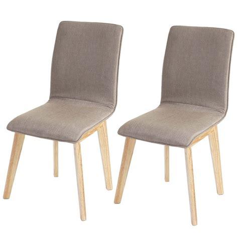 chaise largeur 40 cm lot de 6 chaises de salle à manger en tissu pied en bois cds04290 décoshop26