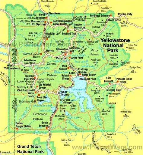 map  yellowstone ideas  pinterest