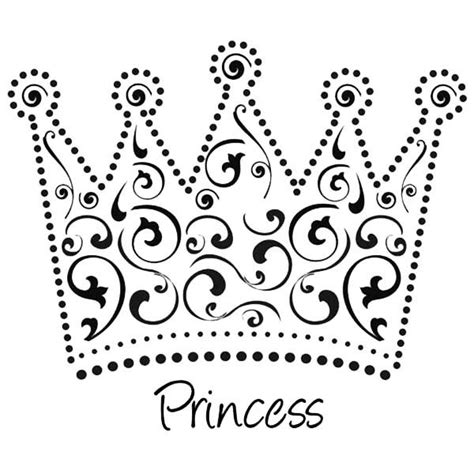 beautiful princess crown coloring page lesson