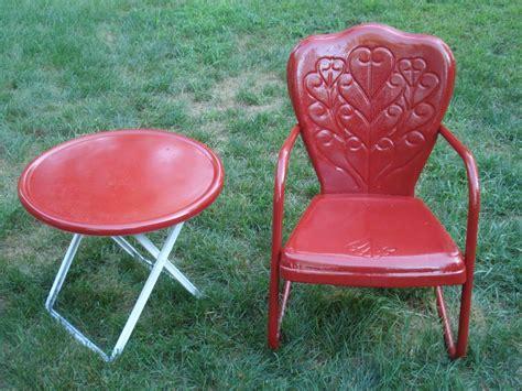vintage motel chair bouncy metal lawn chair sidetable ebay