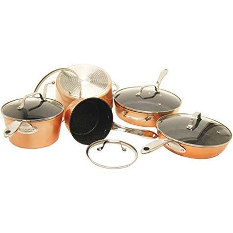 rock  starfrit     piece cookware set copper memaws southern kitchen
