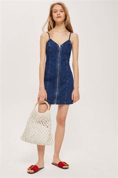 Dress Dona Denim zip denim dress topshop