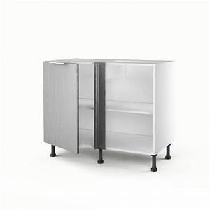 meuble de cuisine bas d39angle decor aluminium 1 porte stil With meuble d angle cuisine leroy merlin