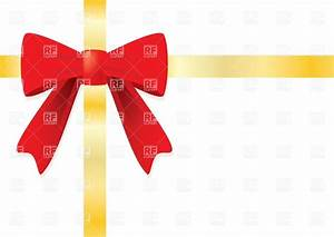Ribbon and red gift bow Royalty Free Vector Clip Art Image ...