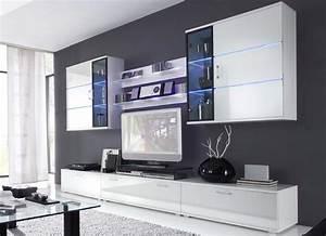 Meuble Tv Led Blanc Laqué : couleurs en pratique binyen ~ Teatrodelosmanantiales.com Idées de Décoration