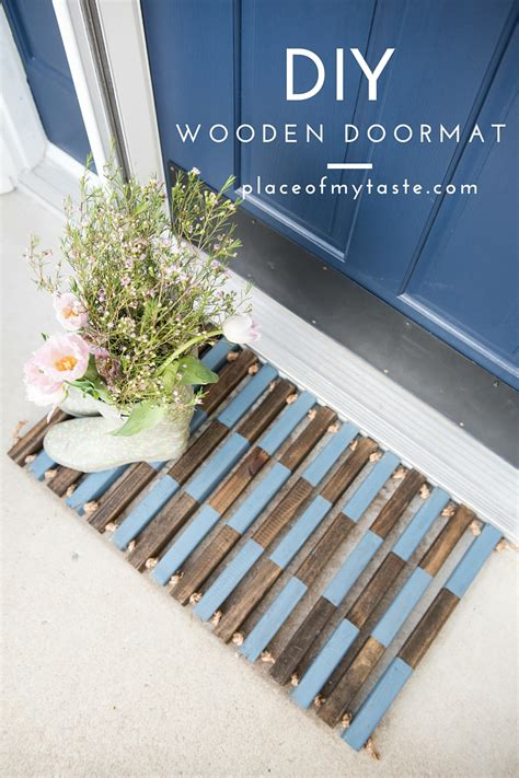 wooden doormats how to make a diy wooden door mat place of my taste