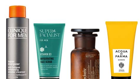 exfoliators  face scrubs  men british gq