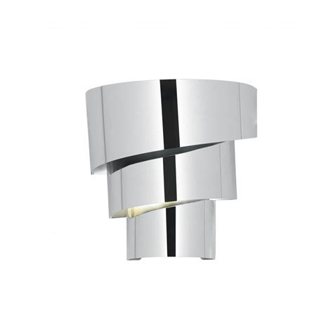 endon everett 1wbch 1 light modern wall light chrome