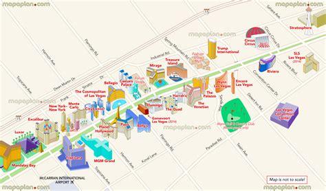 hotels casinos las vegas map