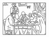 Cezanne Coloring Players Paul Children Mona Lisa Justcolor Da Getcolorings sketch template