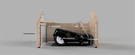 Rasenmä Roboter Garage Mit Tor wir bauen die coolste rasenm 228 roboter garage der