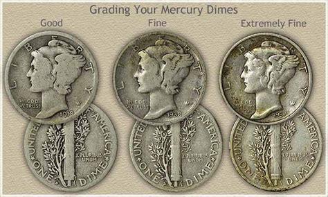 mercury dime values  moderate  high