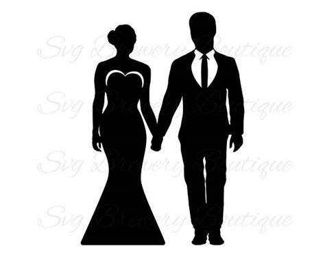 bride groom holding hands wedding svg png dxf