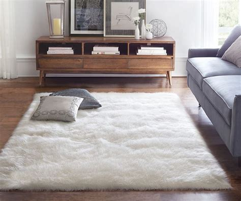 area rug ideas modern living room design with fluffy white sheepskin room