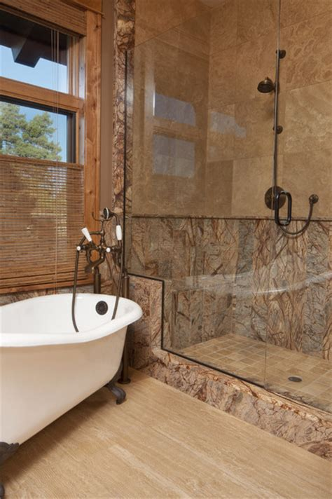 forest brown marble tile modern bathroom milwaukee