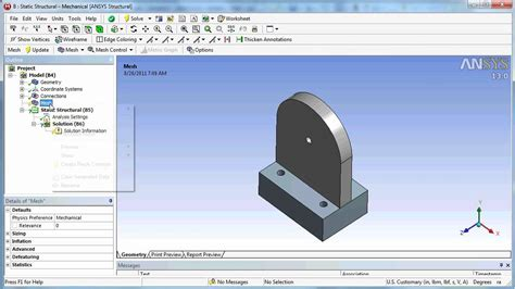 Ansys  Ee  Workbench Ee   Cad Transfer From Solidworks Design