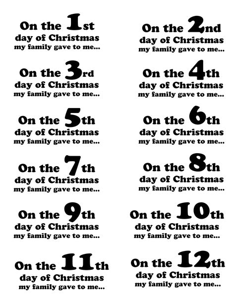create the 12 days of christmas for your family marcie lyons