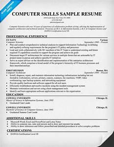 computer technician computer technician sample resume skills With computer skills resume example