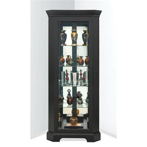 black corner cabinet the black corner curio cabinet with light
