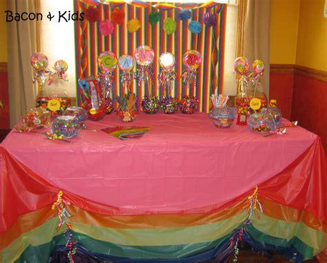 Kindergarten Graduation Candy Themed Party Bacon Kids