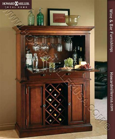 wine  bar cabinet cherry wooden wine rack
