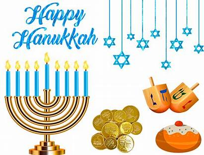 Hanukkah Happy Jewish Festival Celebrating Lights Creative