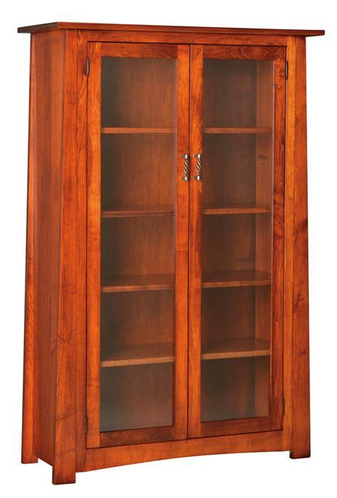 craftsmen bookcase  glass doors peaceful valley
