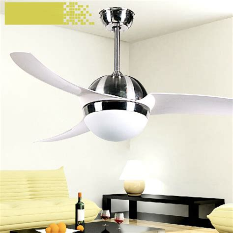 52 inch simple modern ceiling fans with lights for living