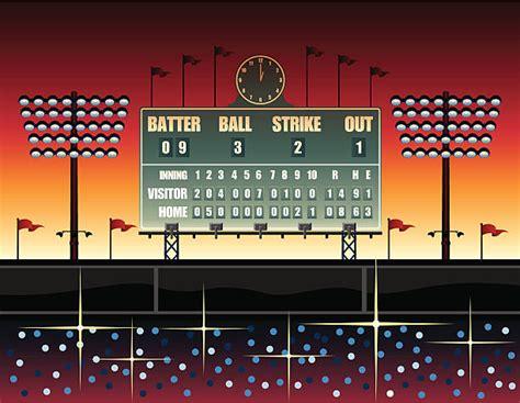 baseball scoreboard illustrations royalty