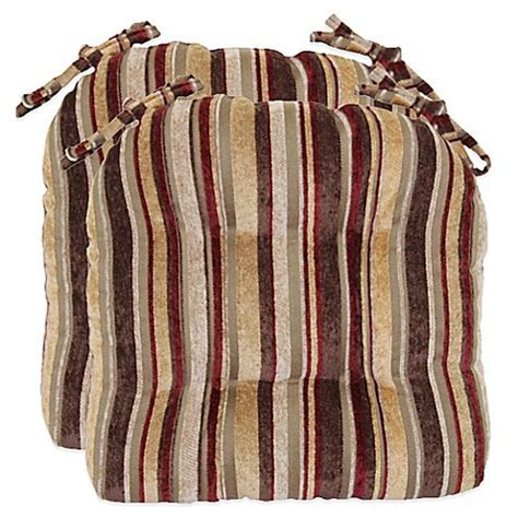 Buy Manson Striped Chenille Chair Cushions (Set of 2) from