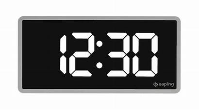 Clock Digital Clocks Clipart Analog Sapling Plus