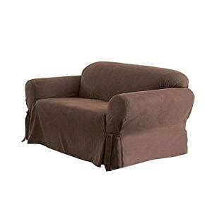 sofa and loveseat covers amazon amazon com solid suede couch cover 3 pc slipcover set