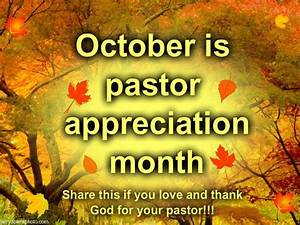 October Pastor appreciation month | Church | Pinterest