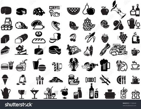 Set Of Universal Supermarket Symbols As Foods, Winery