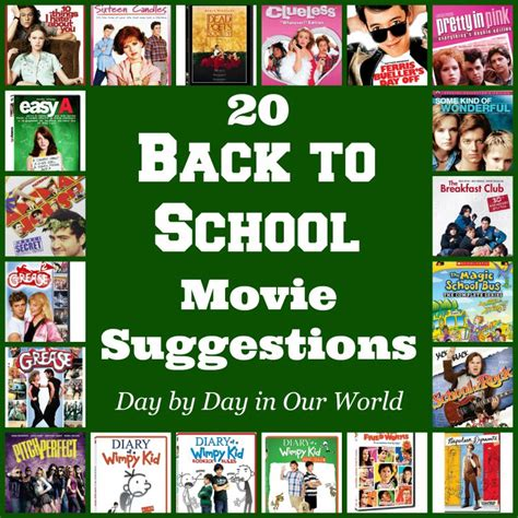 20 Back To School Movie Suggestions  Day By Day In Our World