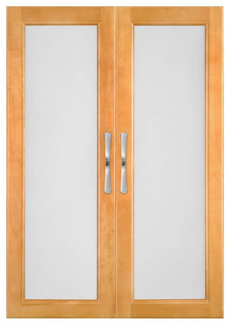 Solid Wood Closets Doors With Frosted Glass, Tempered