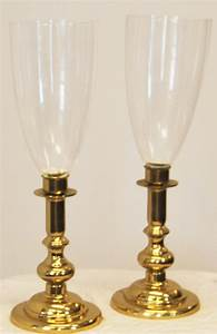 A, Pair, Of, Victorian, Style, Hurricane, Candle, Holders