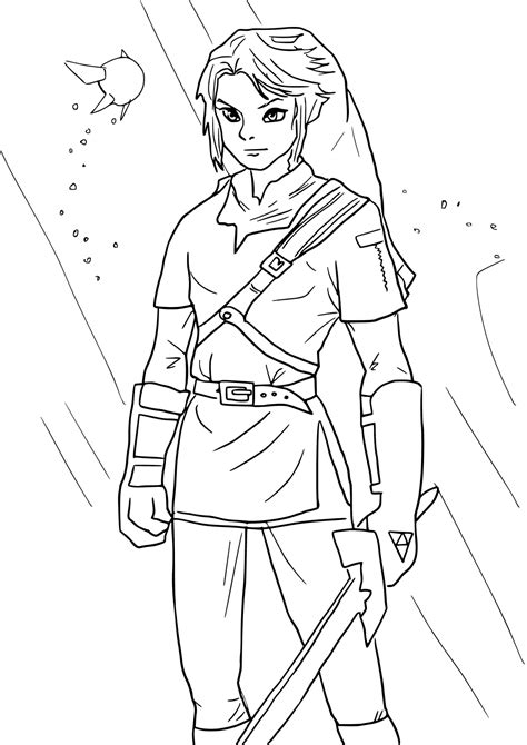 Young Link Coloring Pages Get Coloring Pages