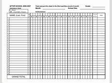 4+ printable attendance sheet Authorizationlettersorg