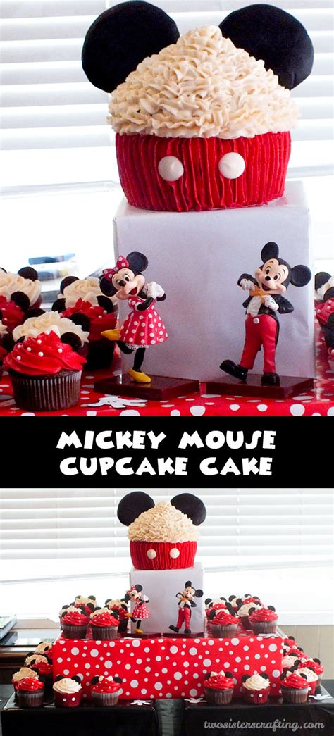 mickey mouse cupcake cake  sisters crafting