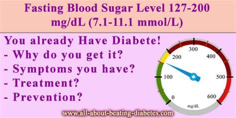 fasting blood sugar level   mgdl diabetes