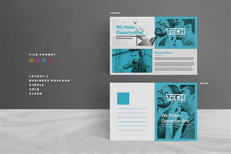 postcard card templates creative market