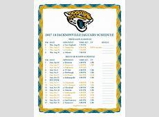 Printable 201762018 Jacksonville Jaguars Schedule