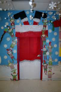 santa stuck classroom door decoration classroom door decorations