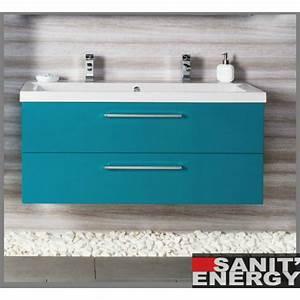 Meuble Salle De Bain Turquoise : meuble de salle de bain bleu cool meuble salle de bain ~ Dailycaller-alerts.com Idées de Décoration