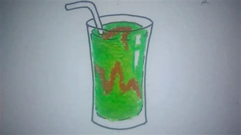 contoh gambar mewarnai gambar jus buah